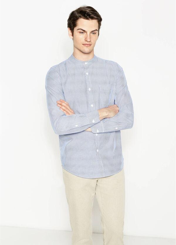 Camicia casual a righe colletto coreana | OVS