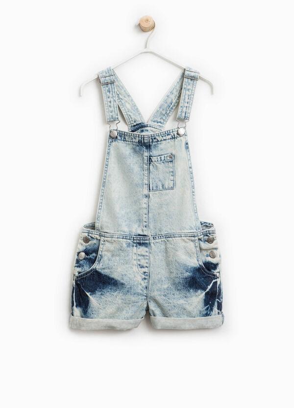 Salopette di jeans effetto maltinto | OVS