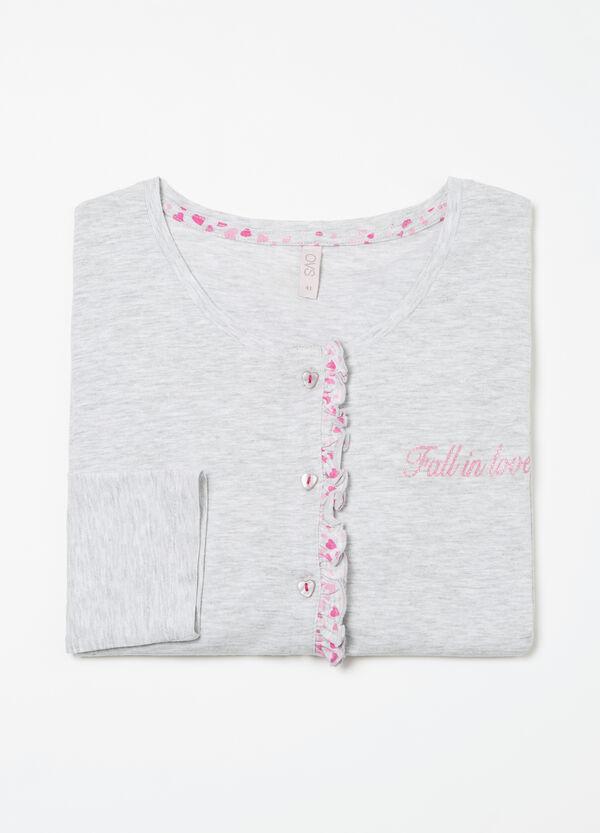 Curvy frilled pyjama top | OVS