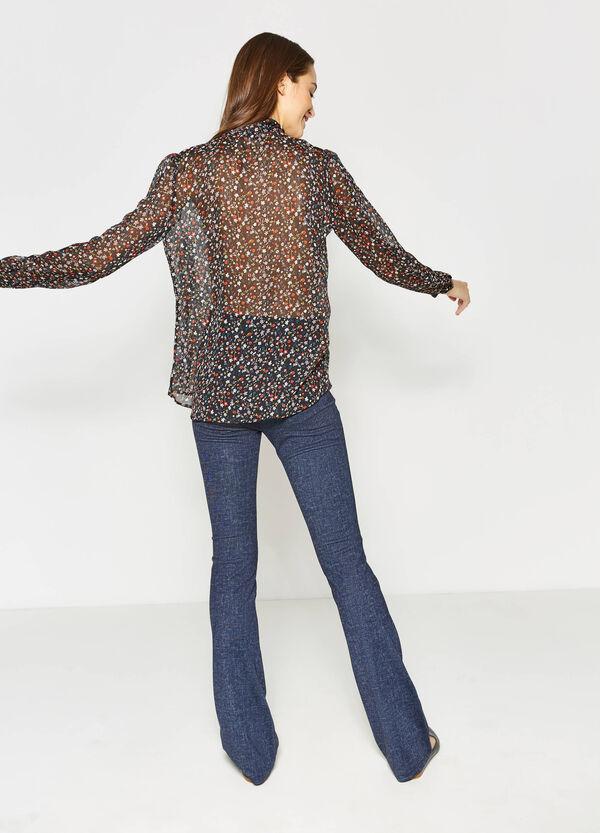 Camicia con laccio e stampa floreale | OVS