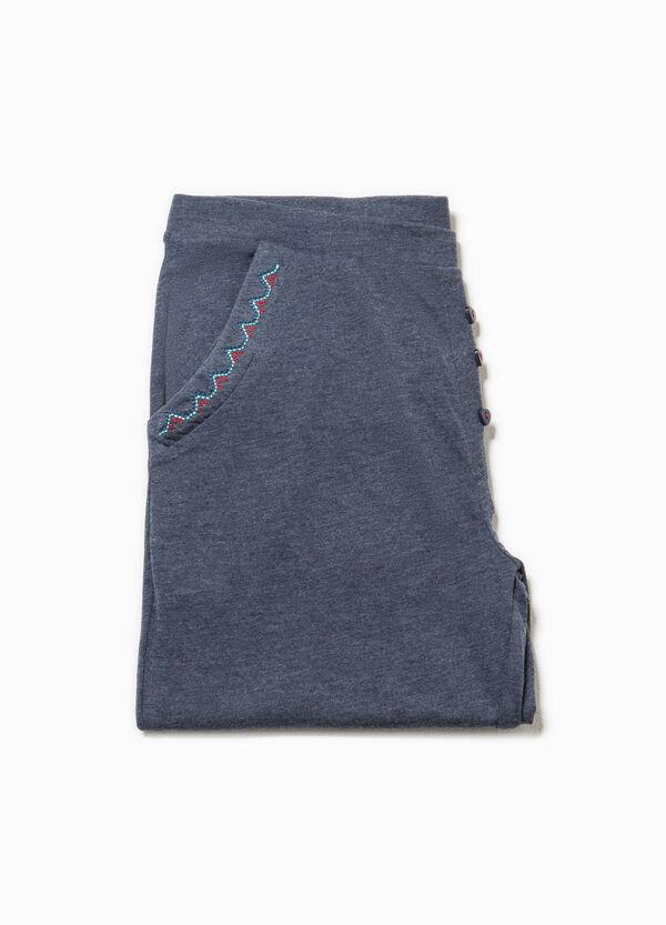 Pantaloni pigiama con tasche e ricami   OVS