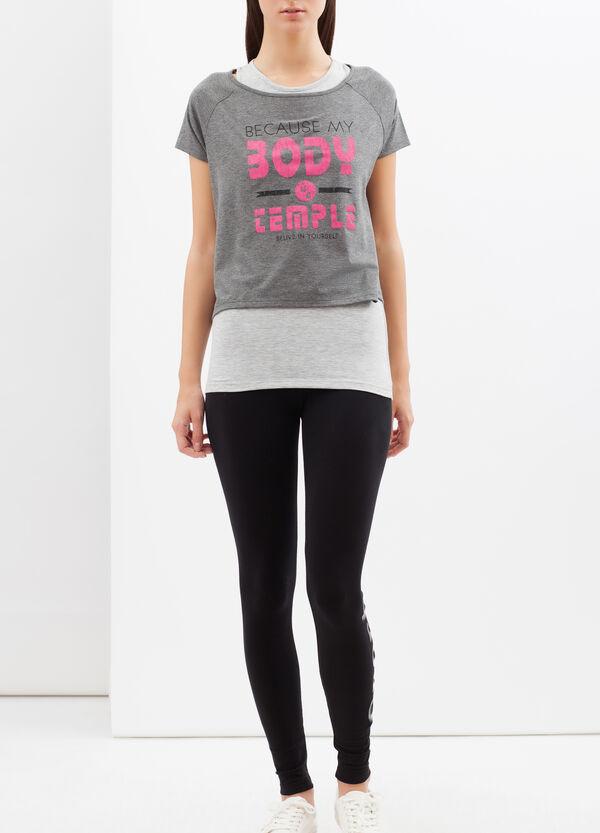 T-shirt sportiva sovrapposta con stampa | OVS