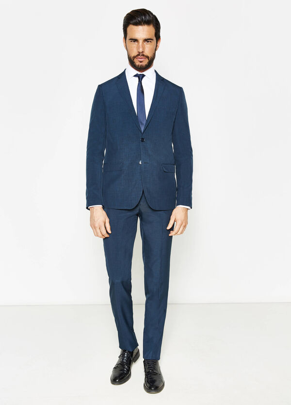 Slim-fit suit with two buttons and lapels | OVS