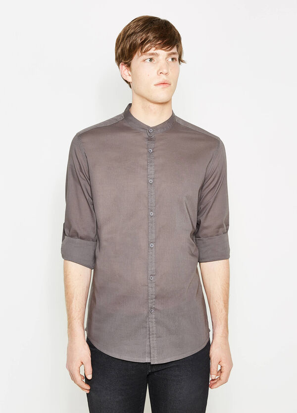 Slim-fit, casual shirt with Mandarin collar | OVS