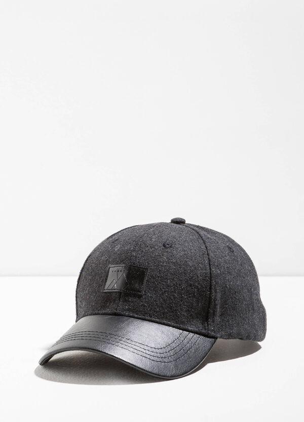 Baseball cap with textured visor | OVS