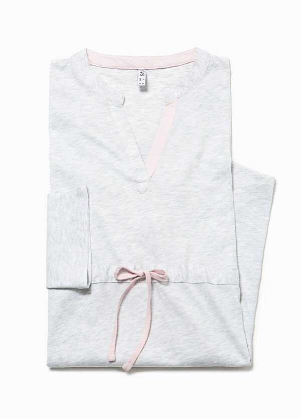Nightshirt with V neck and drawstring | OVS