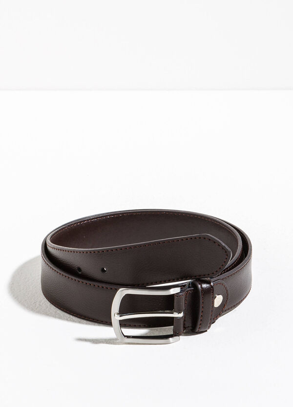Belt with polished rectangular buckle | OVS