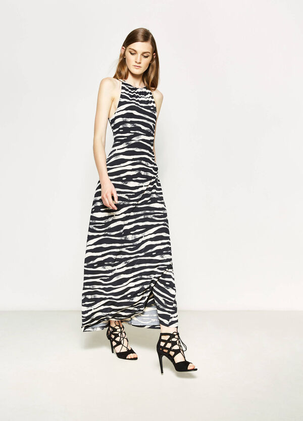 Long stretch dress with animal pattern | OVS