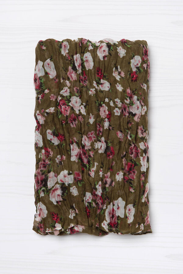 Crumpled-effect floral scarf | OVS