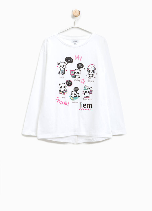 T-shirt in cotone con stampa panda | OVS