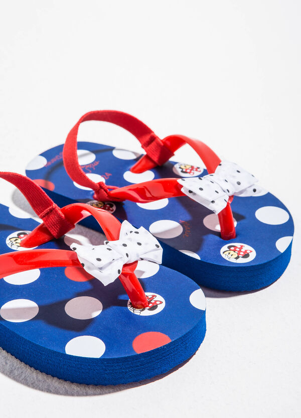 Minnie Mouse polka dot flip flops | OVS