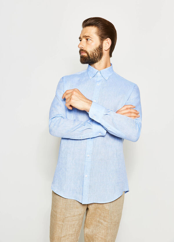Regular-fit formal linen shirt | OVS