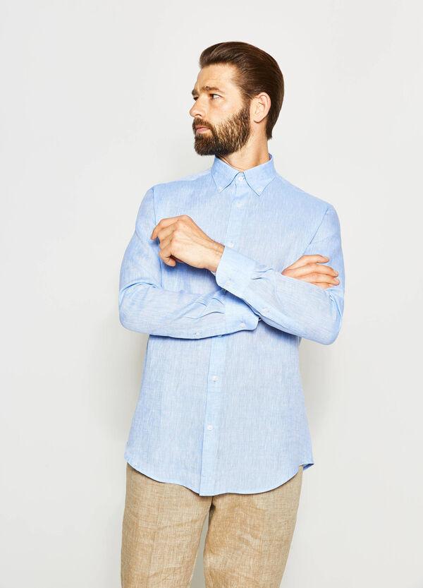 Camicia formale regular fit in lino | OVS