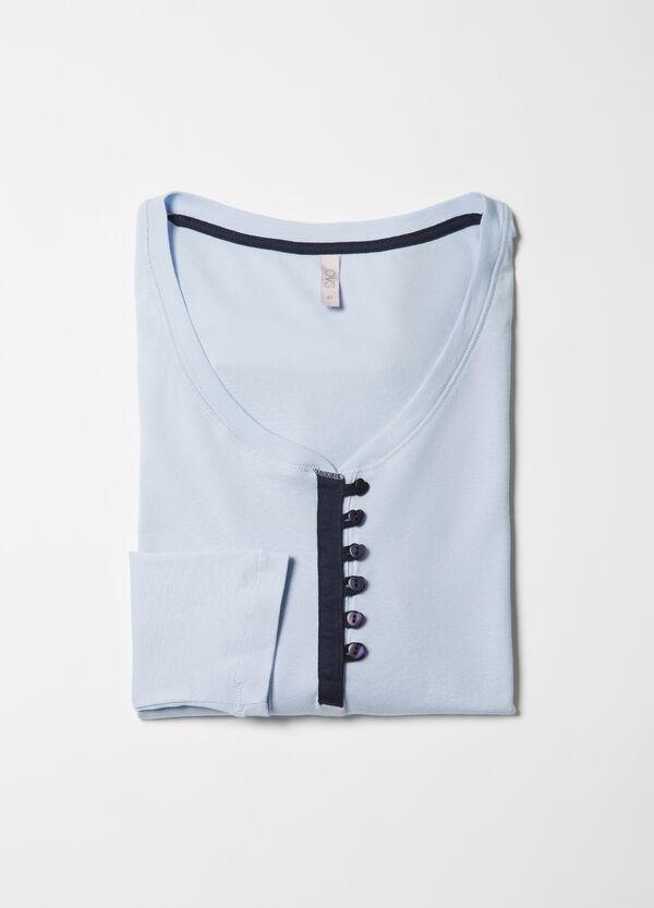 Curvy 100% cotton pyjama top | OVS