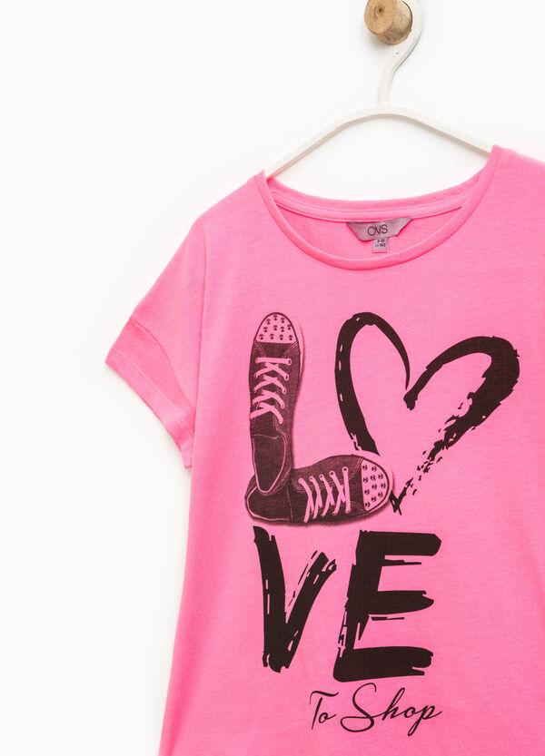 T-shirt in puro cotone maxi stampa   OVS