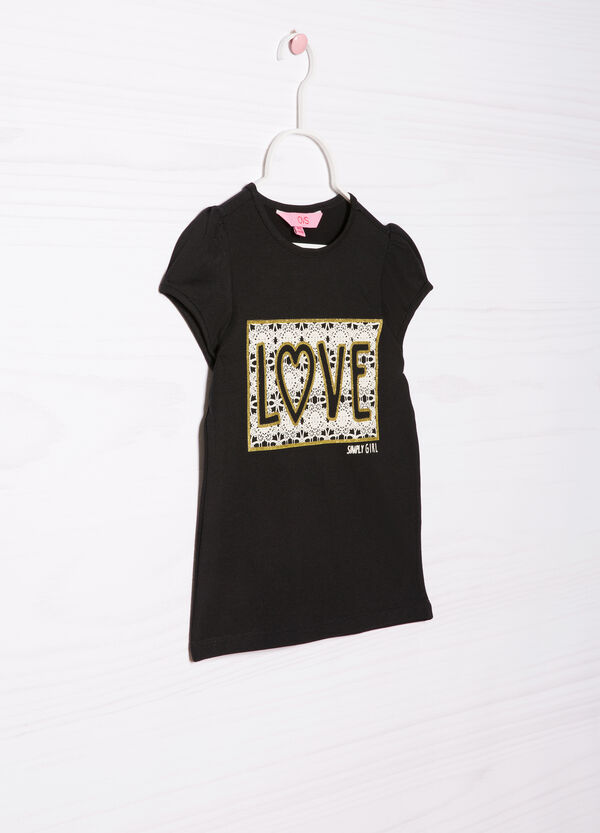 T-shirt stretch con stampa | OVS