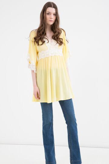 Cotton-viscose blend dress