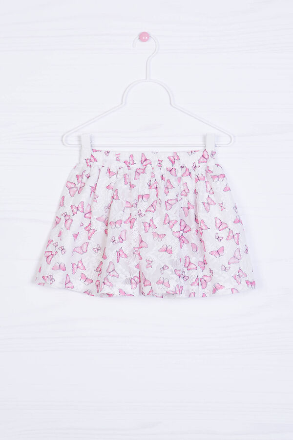 Skirt with all-over butterfly print | OVS