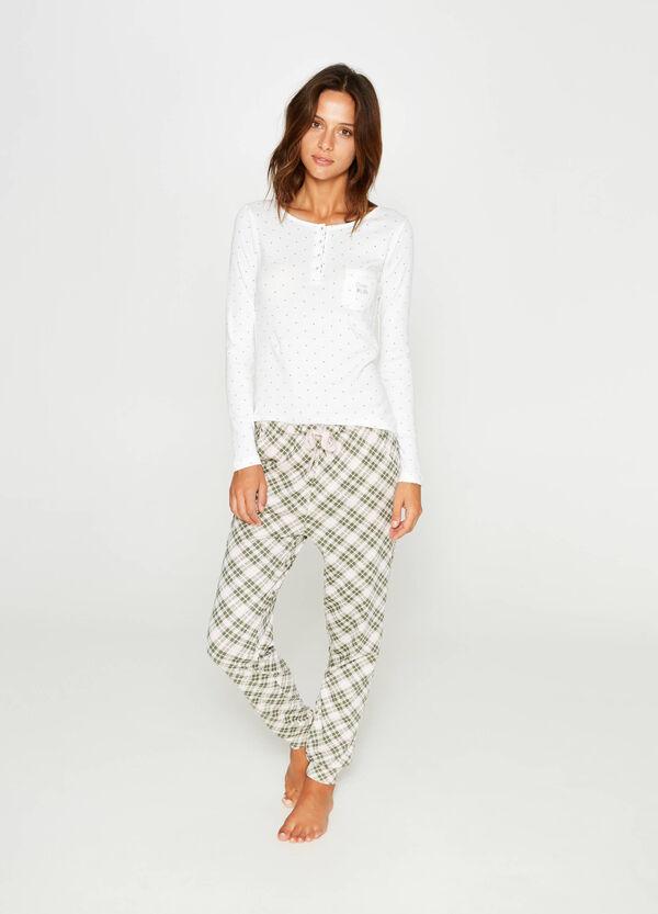100% cotton tartan and polka dot pyjamas | OVS