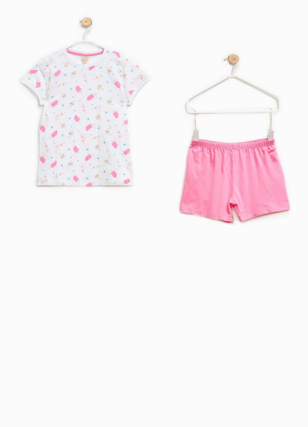 Pigiama 100% Biocotton t-shirt e shorts   OVS