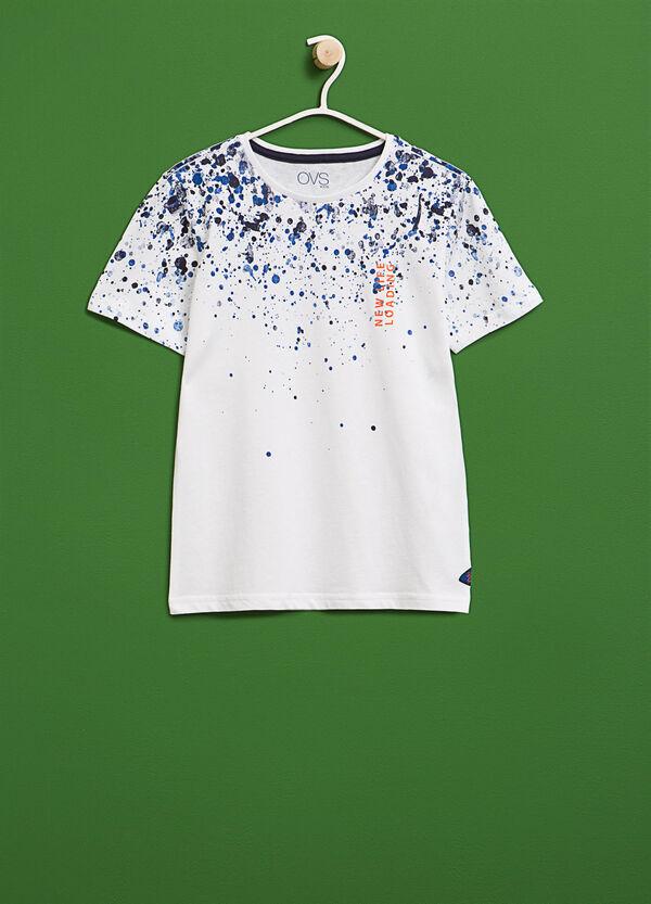 T-shirt stampa macchie di colore | OVS