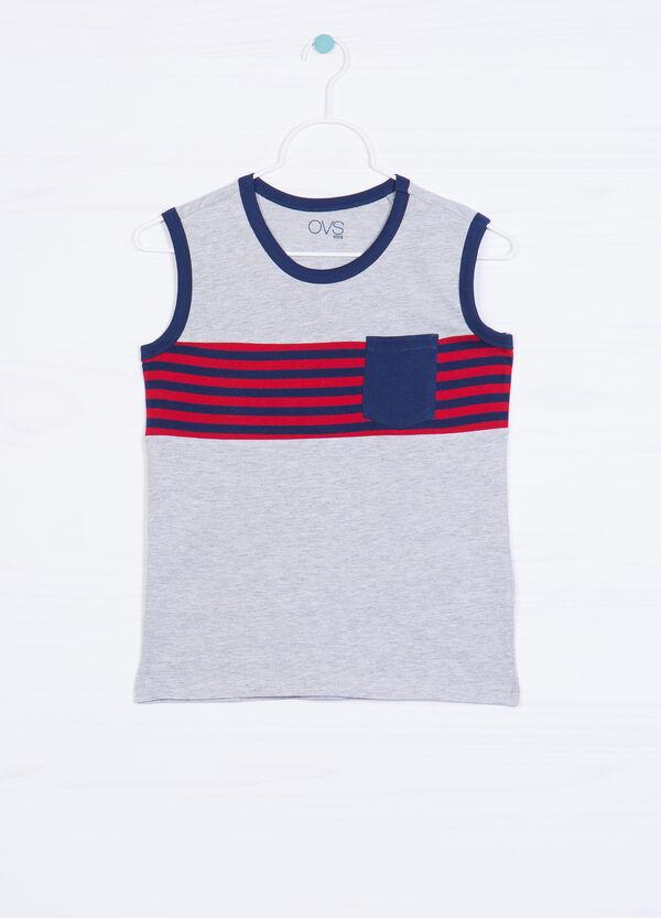 100% cotton vest top with pocket | OVS