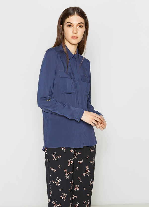 Camicia pura viscosa con taschini | OVS