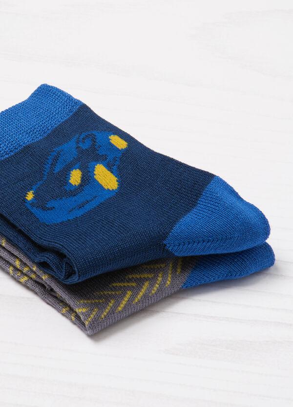 Set due paia di calze stampate | OVS