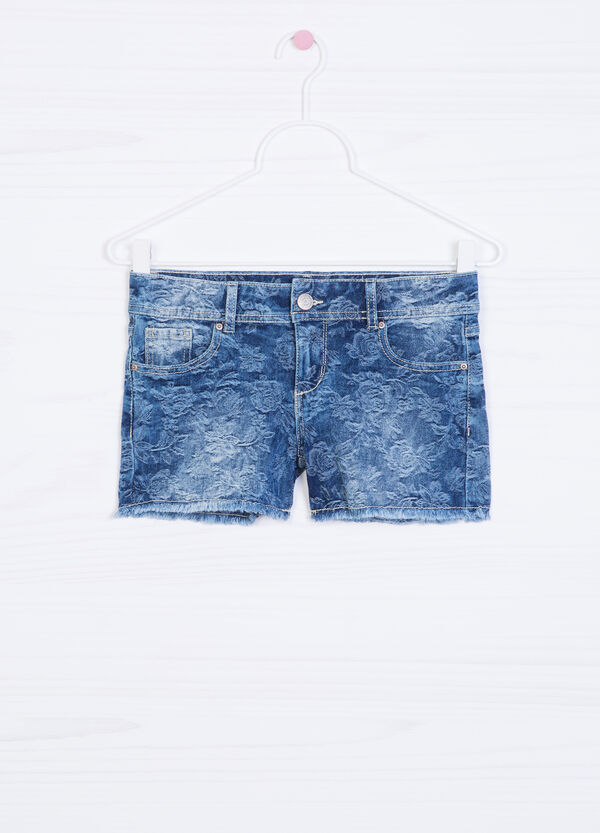 Shorts di jeans stretch fantasia | OVS