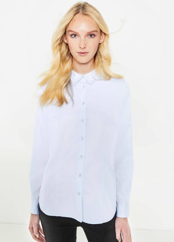 Camicia misto cotone tinta unita | OVS