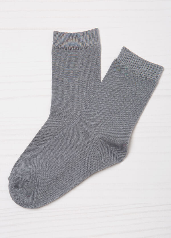 Set tre paia di calze tinta unita | OVS