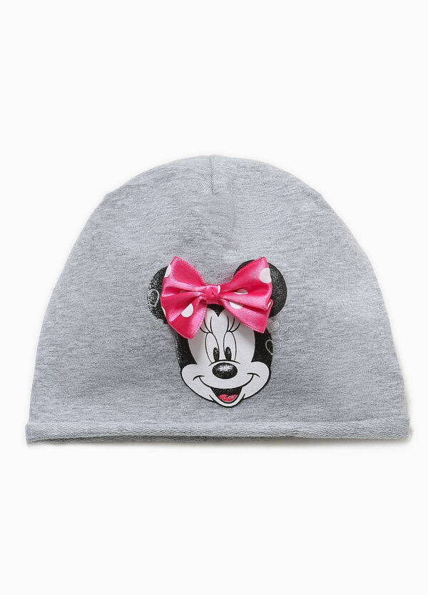 Beanie cap with Minnie Mouse print and bow | OVS