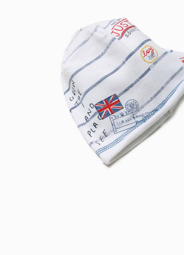 Cappello a cuffia stampa e righe | OVS