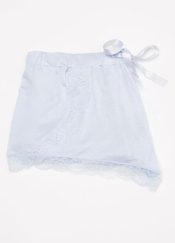Viscose pyjama shorts with lace | OVS