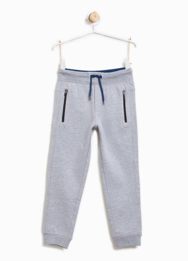 Pantaloni tuta in cotone con coulisse | OVS