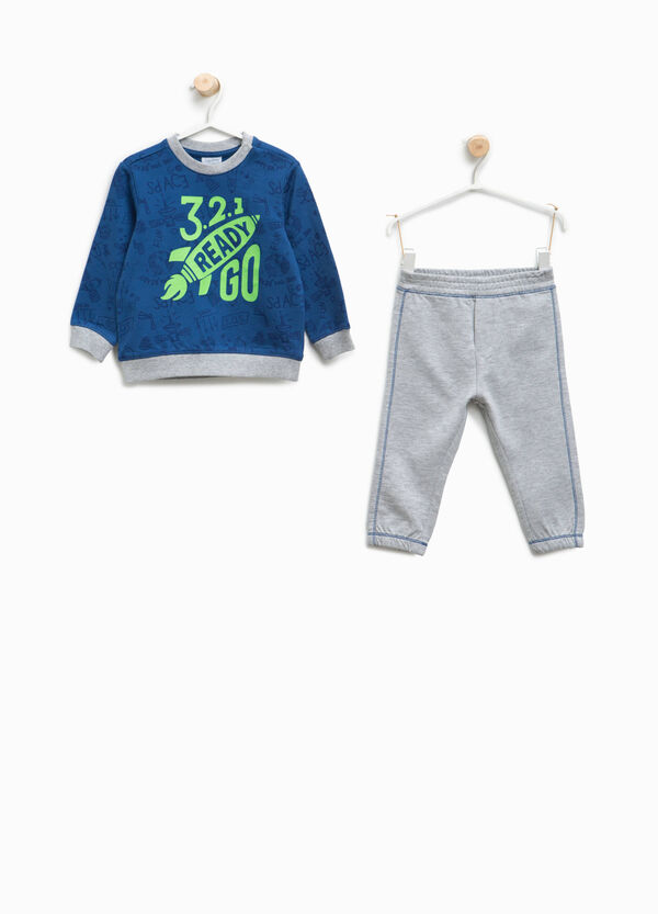 Tracksuit in 100% cotton with pattern and print | OVS