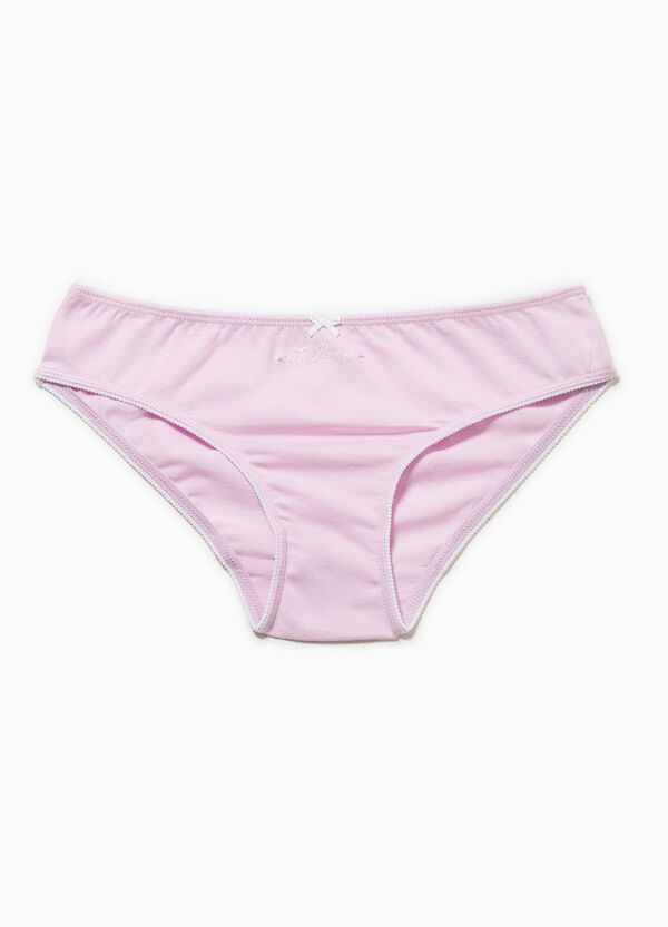 Cotton briefs with bow | OVS