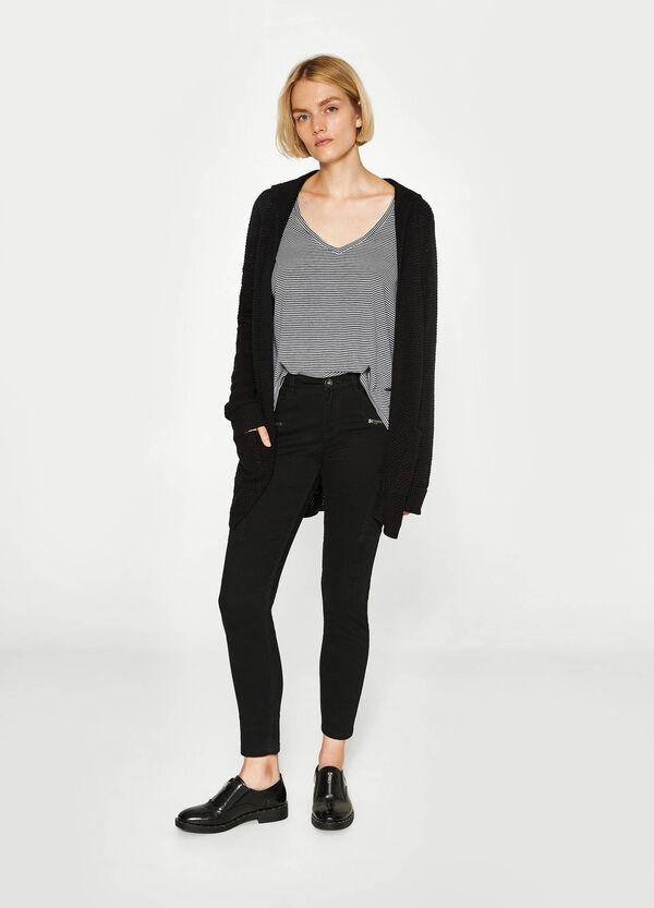 Cardigan tricot con cappuccio | OVS