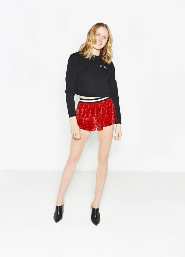 Shorts with contrasting colour side bands | OVS