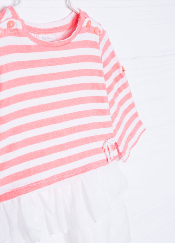 Striped, 100% cotton dress | OVS