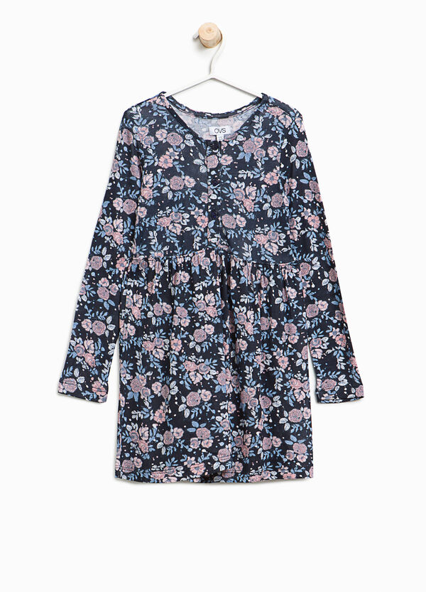 Viscose dress with floral print | OVS