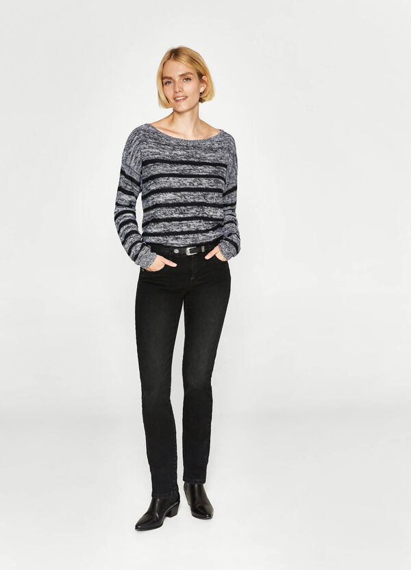 Jeans regular fit stretch delavati   OVS