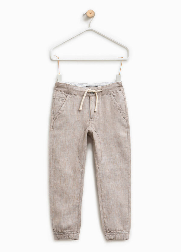 Linen trousers with drawstring | OVS