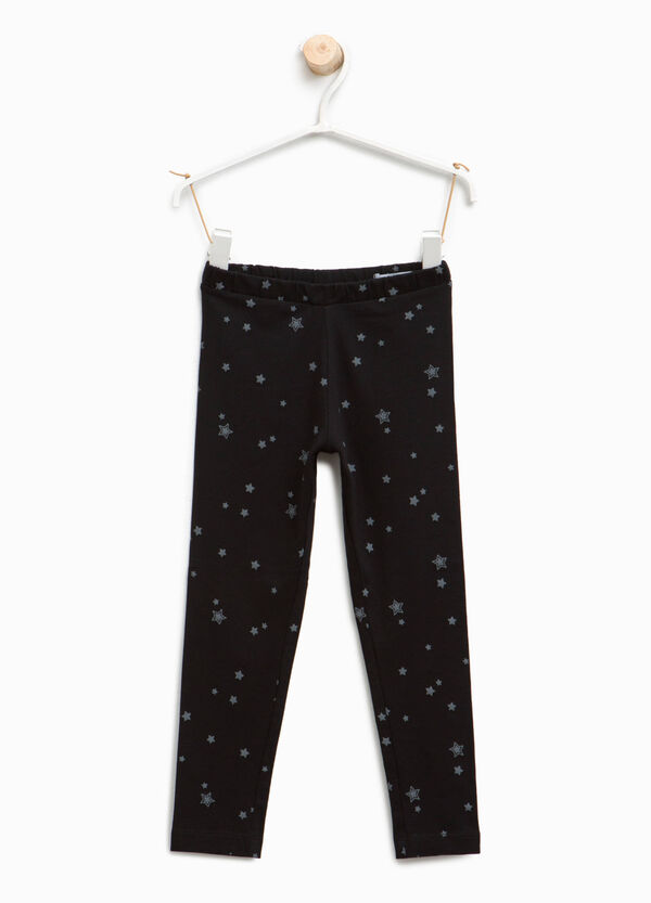 Leggings with all-over star print | OVS