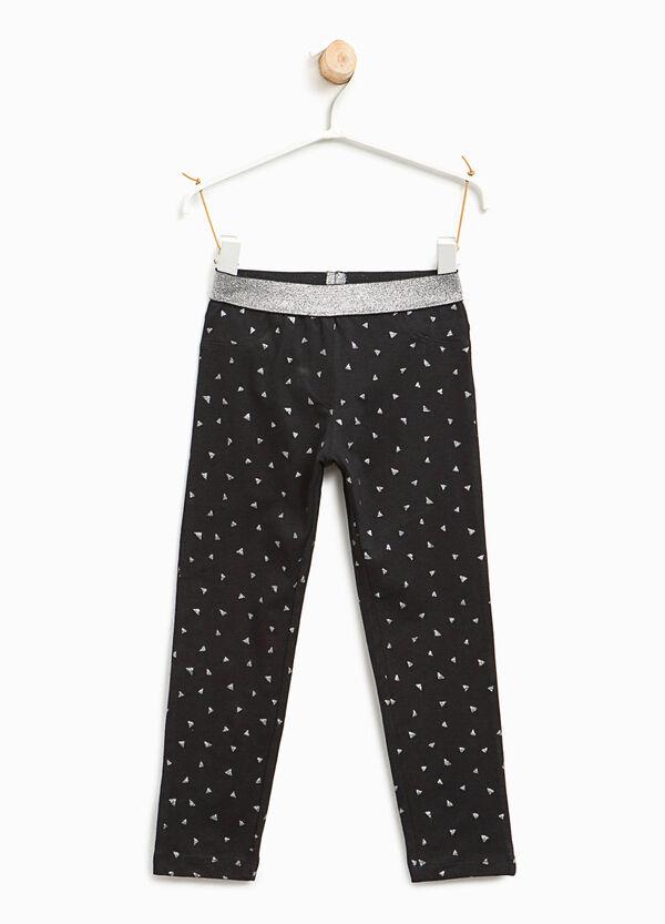 Leggings with glitter print | OVS