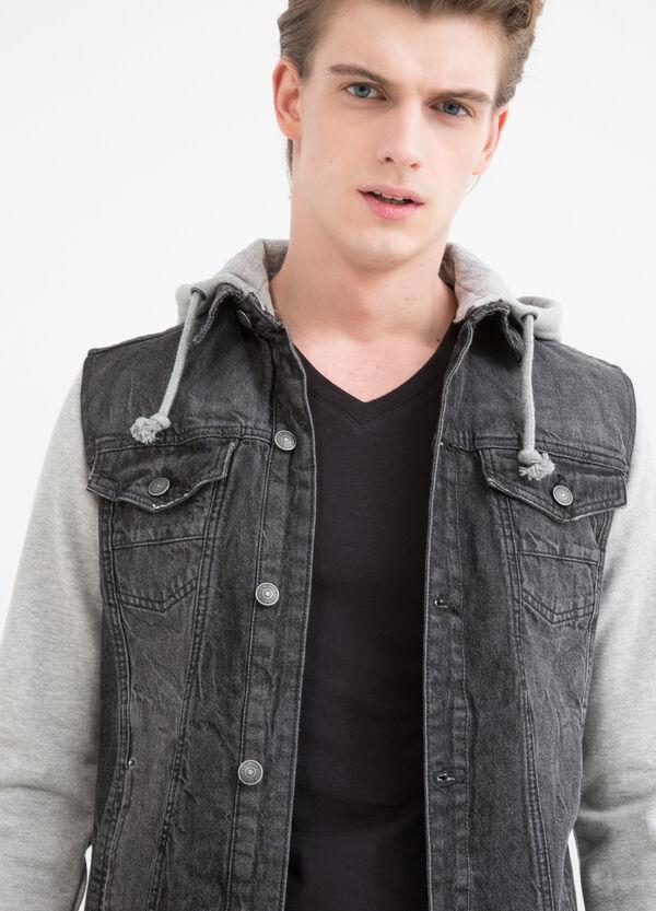 Giubbino di jeans maniche in felpa | OVS