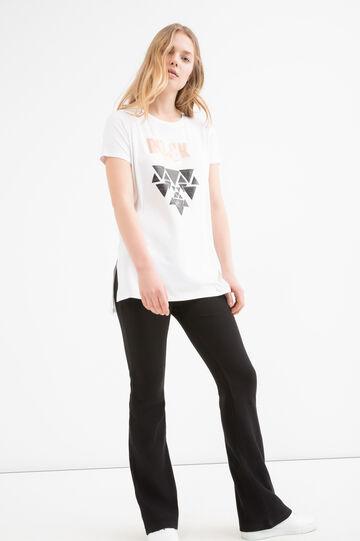 T-shirt viscosa stretch stampata