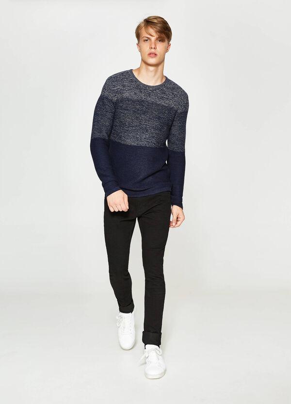 Pullover in misto cotone a righe   OVS