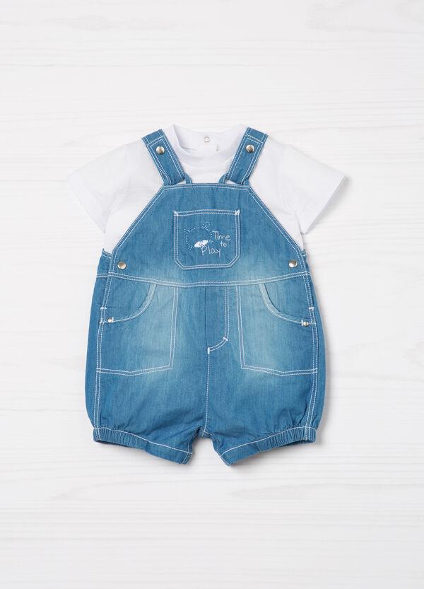 Completo t-shirt e salopette di jeans | OVS
