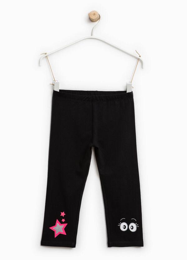 Leggings in cotone stretch stampati | OVS